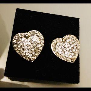 NEW MK Pair of Heart Shaped Earrings